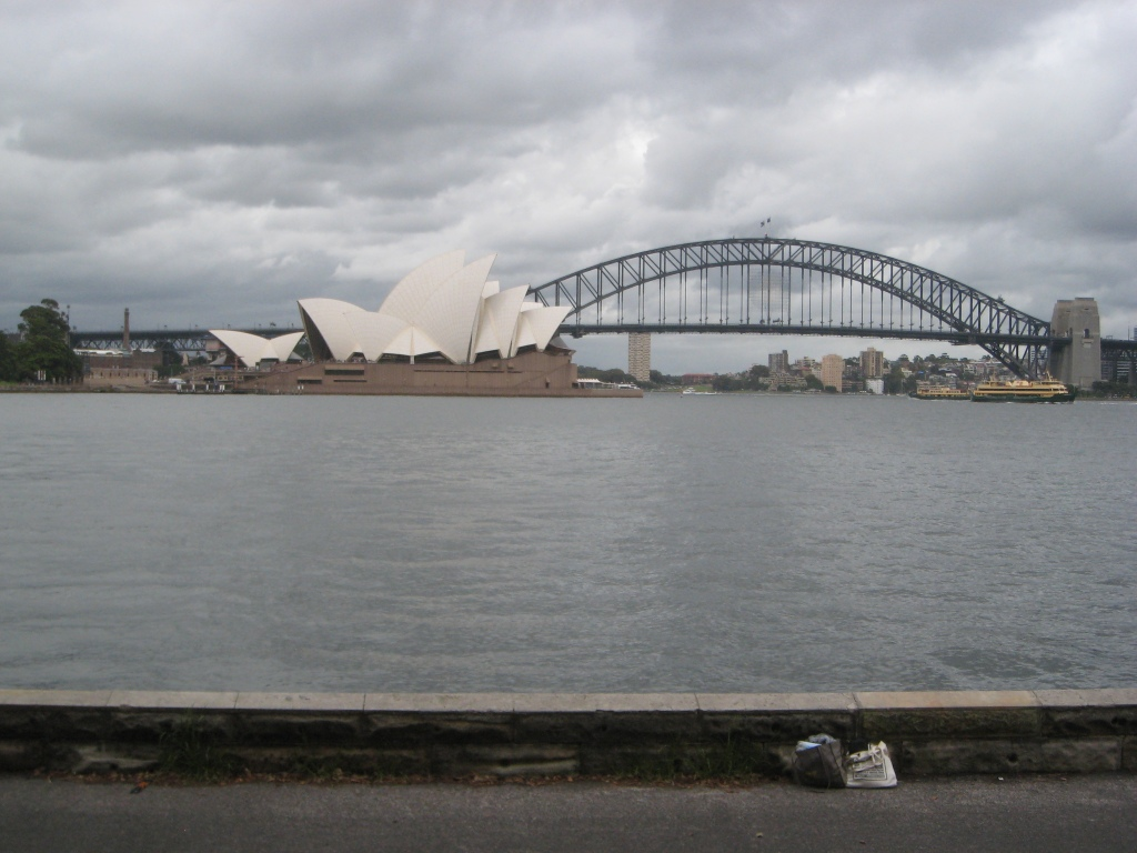 View of the Opera House and the Bridge from the Ferry